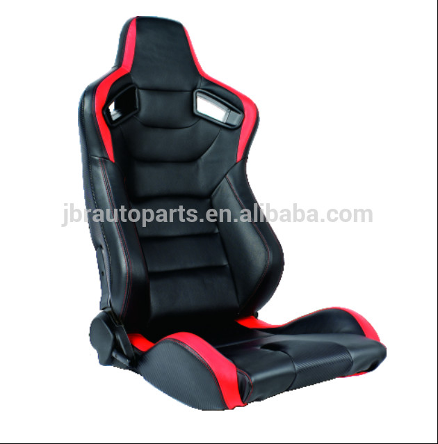 PVC Material Sport Racing Seats With Single Slider And Safety Hole JBR1054