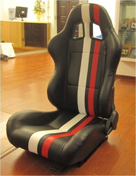 Large Reclinable Sport Racing Seat Office Chair For Driver / Passenger