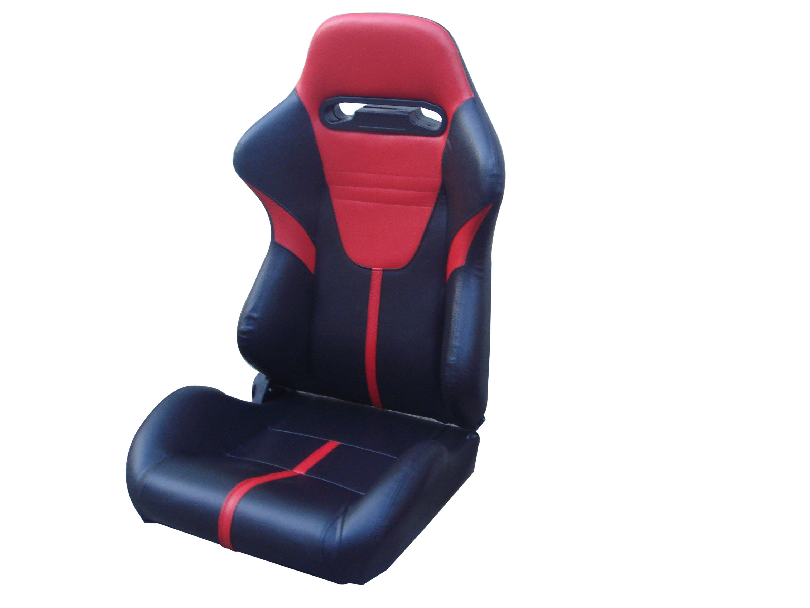 High Performance Custom Black And Red Racing Seats , Reclining Racing Seats